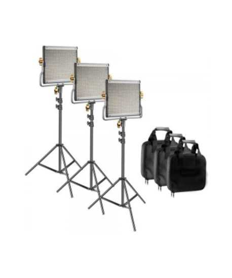 Kit 3 panneaux 480 LED Bi-color